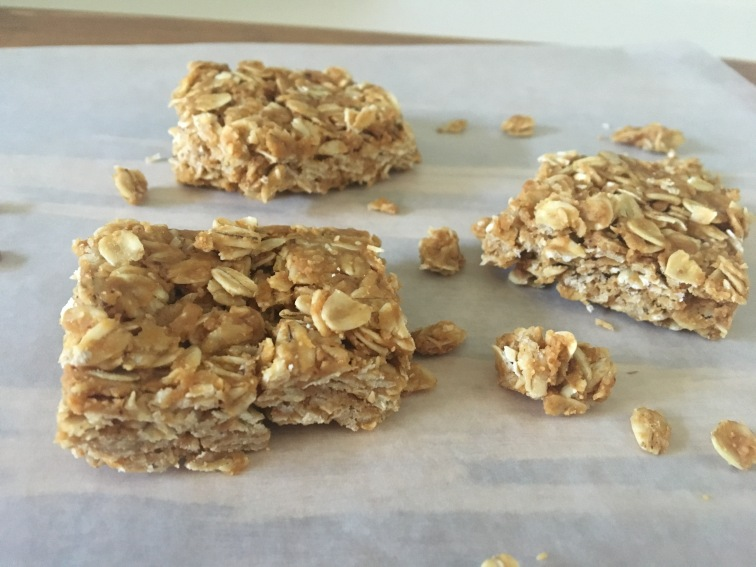 3 Ingredient No Bake Peanut Butter Oat Squares ft. Reginald's Homemade Bourbon Pecan Peanut Butter #11