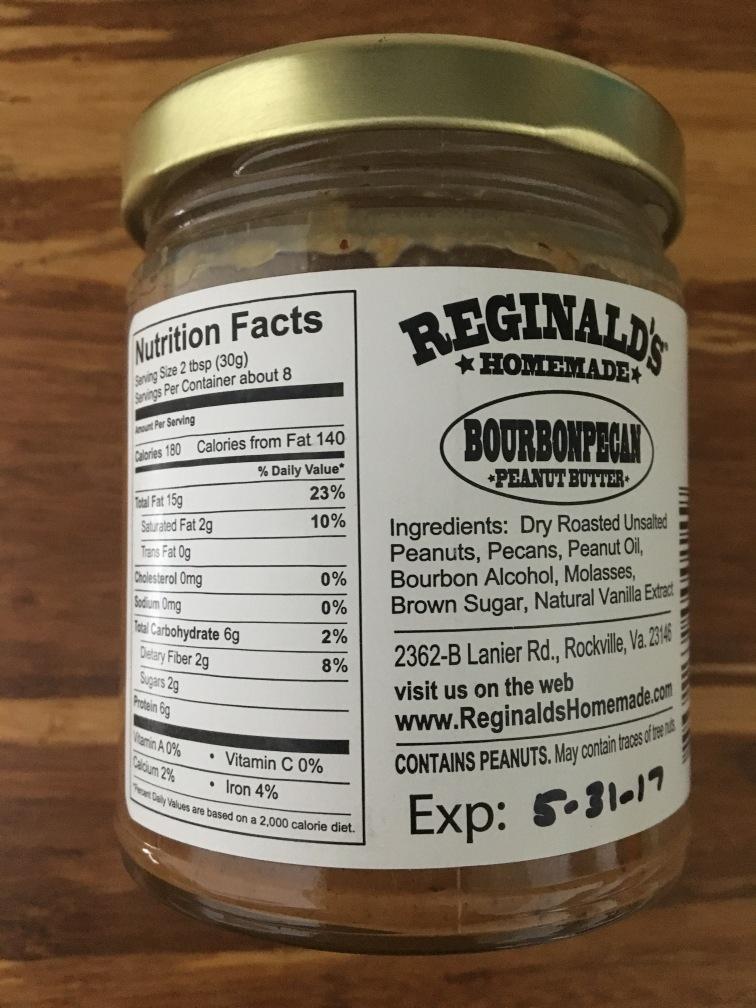 Reginald's Homemade Bourbon Pecan Peanut Butter 2